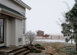 Winter at farm house